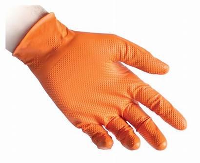 Gloves Nitrile Reflexx N85 Powder Orange Glove