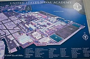 Naval Academy Campus Map   US Naval Academy; Annapolis ...