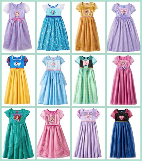 disney princess dressers kohl s disney princess dress up nightgowns 7 93
