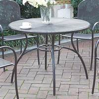 best metal patio table Casual Outdoor Patio Garden Yard Round Dining Table Mesh ...