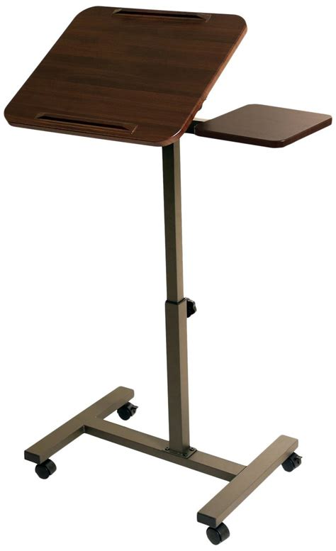 mobile laptop desk cart seville classics mobile laptop desk cart with side table