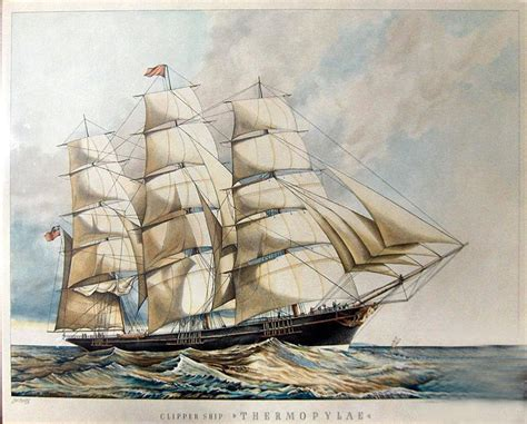 Pekin Boat Club Drawing by The Clipper Quot Thermopylae Quot Vintage Aberdeen Pinterest