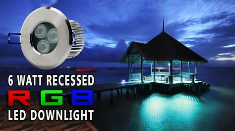 LED Recessed RGB Color Changing Down light - YouTube