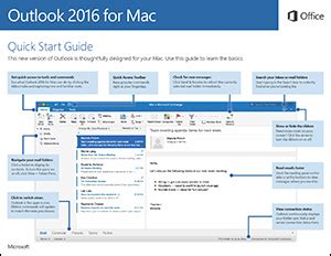 Office 365 Outlook User Guide by Office 2016 For Mac Start Guides Office Support