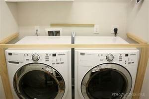 How, To, Build, Counter, Over, Washer