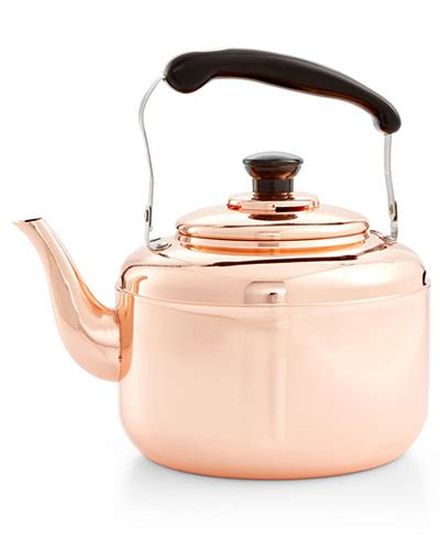 martha stewart collection heirloom copper tea kettle created  macys cookware cookware