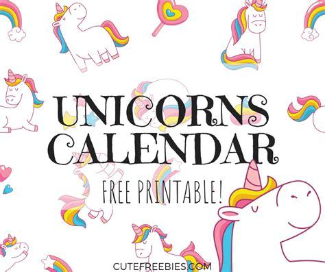 cute unicorn  calendar  printable cute