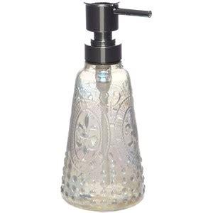shabby chic soap dispenser shabby chic glass embossed fleur soap dispenser polyvore