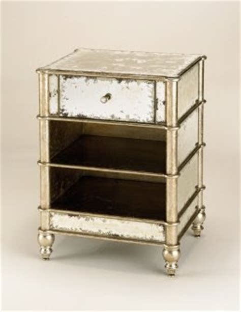 Antique Mirrored Nightstand by J Covington Design An Antiqued Mirror Nightstand
