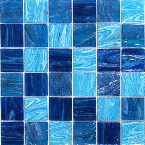 Shop For Aquatic Ocean Blue 2x2 Squares Glass Tile At