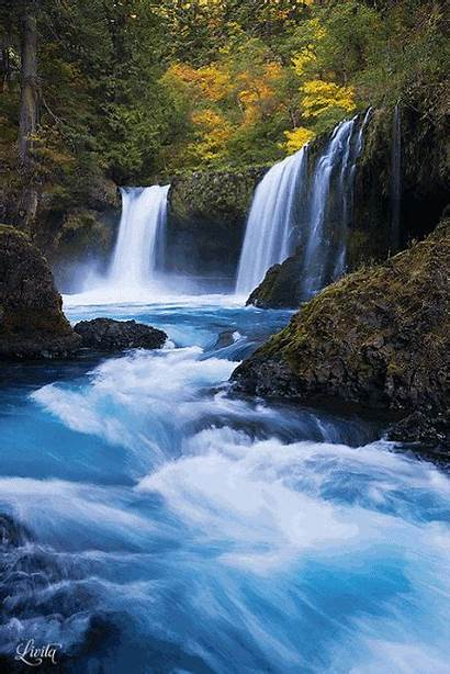 Waterfalls Google River Columbia Gorge Waterfall Nature