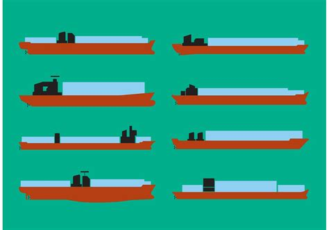 Tugboat Vector Question by Container Ship Vector Set Free Vector