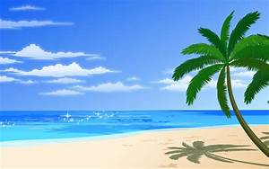 Cartoon Beach Tree - [1920 x 1200]