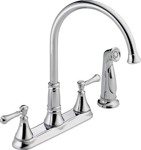 Delta Kitchen Faucets At Menards by Delta 174 Cassidy 2 Handle Side Sprayer Kitchen Faucet At
