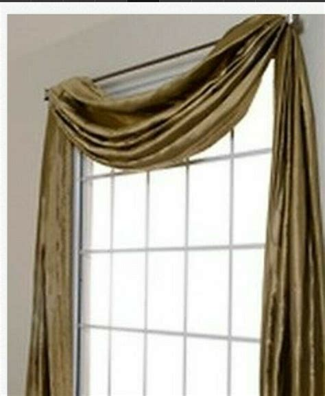 yards bridal satin scarf valance top window treatment