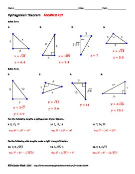 pythagorean theorem geometry worksheet by pecktabo math tpt