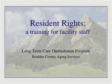 resident rights  training  facility staff