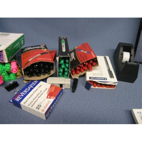 Office Supplies Used by Lot Of Assorted Office Supplies Pens Staples