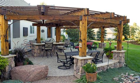 rustic patio designs rustic pergola patio pergola patio