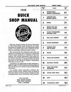 1950 Buick Shop Manual   Repair Book