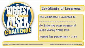 loser certificate template 28 images loser invitations With biggest loser certificate template