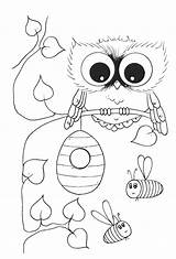 Coloring Owl Pages Cool Printable Popular sketch template