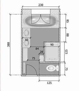 Plan Petite Salle De Bain : impressionnant plan salle de bain 4m2 et amenagement ~ Melissatoandfro.com Idées de Décoration