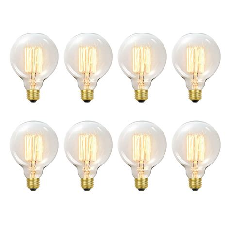 vanity light bulbs globe electric 31320 60w vintage edison g30 vanity