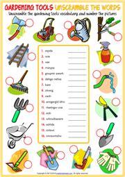 gardening tools worksheets fasci garden