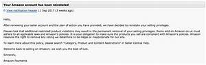 fba seller kev blackburn shares his amazon account With amazon reinstatement letter