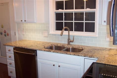 glass subway tile backsplash glass subway tile projects before after pictures