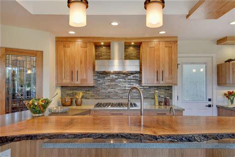 live edge wood countertops contemporary kitchen with quartz countertops and birch