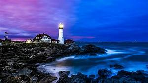 Portland Head Light 4K UltraHD Wallpaper Wallpaper