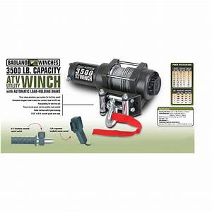 3500 Lb  Atv  Utility Electric Winch With Automatic Load