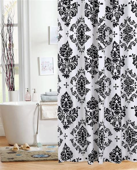 white shower curtains black and white bathroom gorgeous inspirations