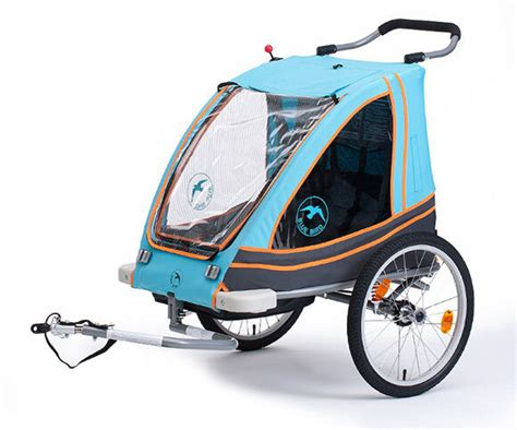 limited blue bird dual kinderanh 228 nger gefedert 2 in 1 alu