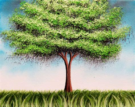green tree art print tree print summer tree whimsical art