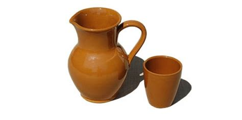 bicchieri in terracotta bicchiere e brocca in terracotta noleggio bicchieri