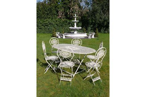 arabella 6 seater white metal garden furniture