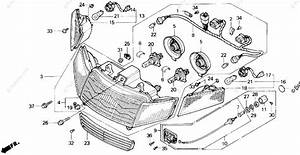 Honda Motorcycle 1989 Oem Parts Diagram For Headlight