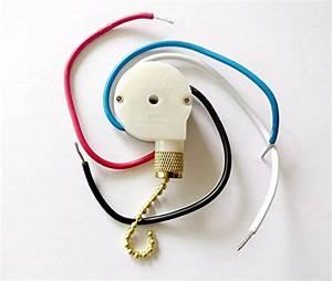 Zing Ear Ceiling Fan Pull Chain 3 Speed Control Switch Ze