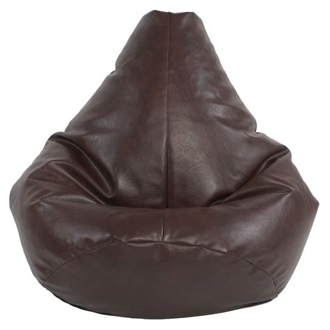 highback faux leather beanbag
