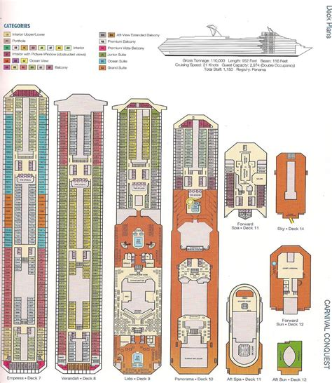Carnival Deck Plan Key by 30 Carnival Cruise Deck Plan Conquest Punchaos