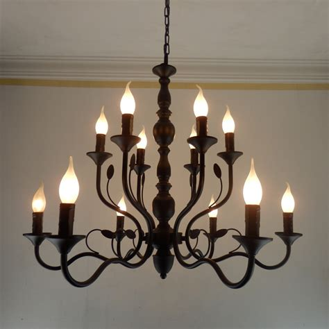 Black Wrought Iron And Chandelier by っluxury Rustic Wrought Iron Chandelier E14 E14 Candle