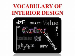 Vocabulary of interior design for Interior decorator vocabulary