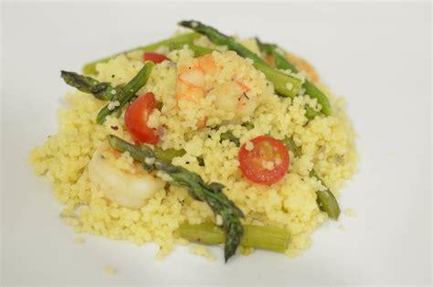 cuisine couscous recipe couscous with shrimp asparagus and tomato