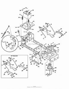 Mtd 13am775s000  2014  Parts Diagram For Frame  Pto  U0026 Lift
