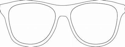 Sunglasses Template Sunglass Printable Frames Clip Glasses