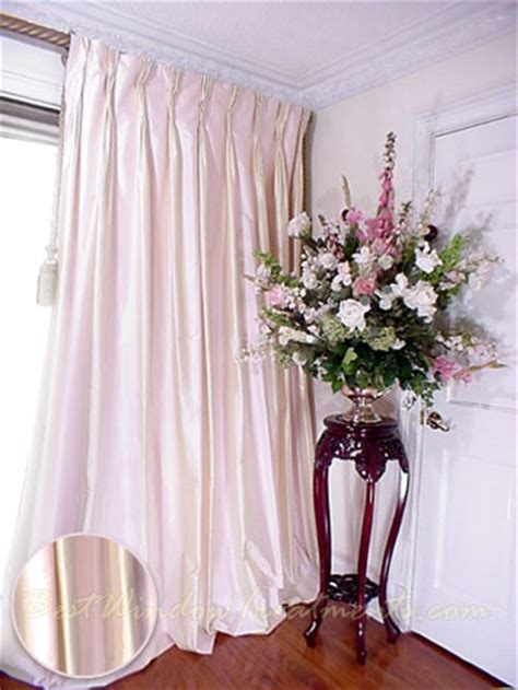 pale pink curtains thai silk pleated draperies in two tone pale pink and
