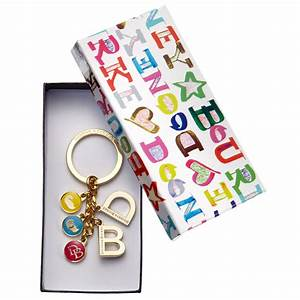 dooney bourke signature charm key chain in metallic lyst With fossil letter keychain